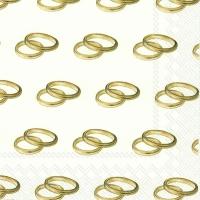 Servietten 33x33 cm - RINGS gold