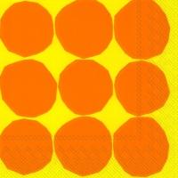Servietten 33x33 cm - KIVET yellow