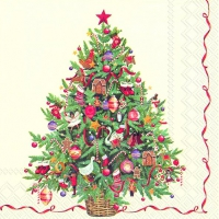 Servietten 33x33 cm - CHRISTMAS TREE