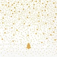 Servietten 33x33 cm - SILENCE white gold