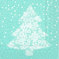 Servietten 33x33 cm - CHRISTMAS LACE light blue