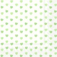 Servietten 33x33 cm - MY LITTLE SWEETHEART grün
