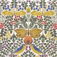 Servietten 33x33 cm - Vögel und Schmetterlinge (V&A)