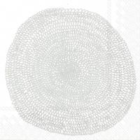 Servietten 33x33 cm - PIPPURIKERÄ white silver
