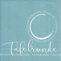 Servietten 33x33 cm - TAFELRUNDE turquoise