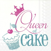 Servietten 33x33 cm - QUEEN OF CAKE turquoise