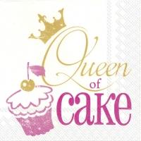 Servietten 33x33 cm - QUEEN OF CAKE rosa