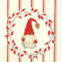 Servietten 33x33 cm - LITTLE NISSE red