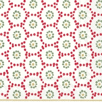 Servietten 33x33 cm - WINTER DOTTY red