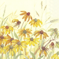 Servietten 33x33 cm - CONEFLOWER cream