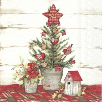 Servietten 33x33 cm - COTTAGE CHRISTMAS TREE