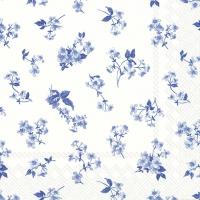 Servietten 33x33 cm - BELLINA white blue