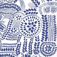Servietten 33x33 cm - NÄSIÄ white blue