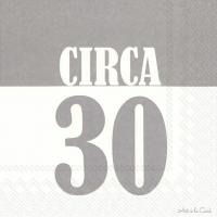 Servietten 33x33 cm - CIRCA 30 grey