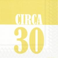 Servietten 33x33 cm - CIRCA 30 yellow