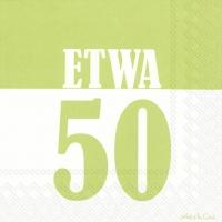 Servietten 33x33 cm - ETWA 50 hellgrün