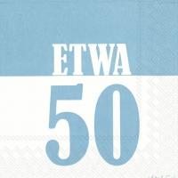 Servietten 33x33 cm - ETWA 50 blau