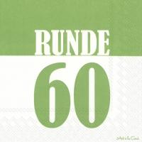 Servietten 33x33 cm - RUNDE 60 grün