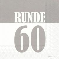 Servietten 33x33 cm - RUNDE 60 grey