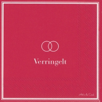 Servietten 33x33 cm - VERRINGELT red
