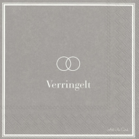 Servietten 33x33 cm - VERRINGELT grey