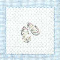 Servietten 33x33 cm - FOR MY LITTLE BABY light blue