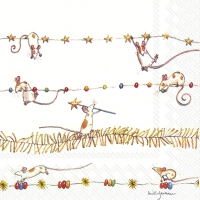 Servietten 33x33 cm - MICE GARLAND