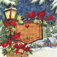 Servietten 33x33 cm - COME HOME FOR CHRISTMAS