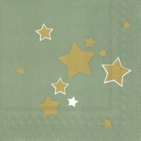 Servietten 33x33 cm - SHINY STARS celadon