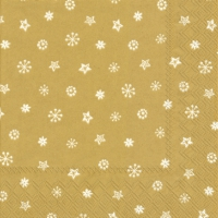 Servietten 33x33 cm - LITTLE JOY gold