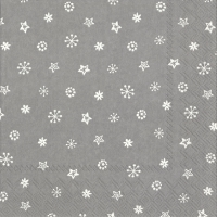 Servietten 33x33 cm - LITTLE JOY light grey