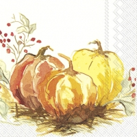 Servietten 33x33 cm - PAINTED PUMPKIN