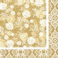 Servietten 33x33 cm - CLASSIC GARDEN gold
