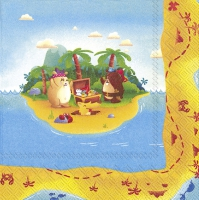 Servietten 33x33 cm - TREASURE HUNT (V&B)