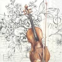Servietten 33x33 cm - BELLA MUSICA