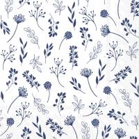 Servietten 33x33 cm - TILDA white dark blue