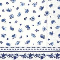 Servietten 33x33 cm - LAURA white blue