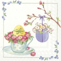Servietten 33x33 cm - WELCOME EASTER white