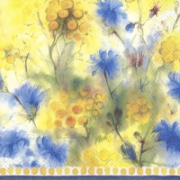 Servietten 33x33 cm - GOLDEN BUTTONS AND CHICORY