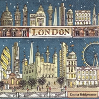 Servietten 33x33 cm - LONDON AT NIGHT