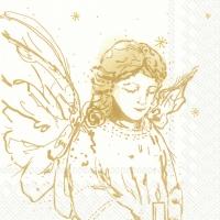 Servietten 33x33 cm - LIKE AN ANGEL white gold