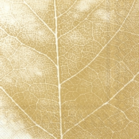Servietten 33x33 cm - THE LEAF white gold