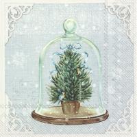 Servietten 33x33 cm - BELL JAR light blue
