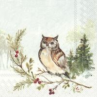 Servietten 33x33 cm - WOODLAND OWL
