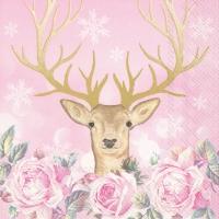 Servietten 33x33 cm - MORE ROMANCE, MY DEER rose