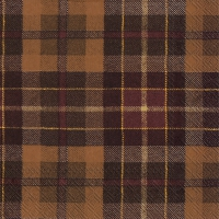Servietten 33x33 cm - TARTAN brown