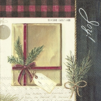 Servietten 33x33 cm - HOLIDAY WRAPPING