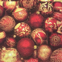Servietten 33x33 cm - BRIGHT BAUBLES
