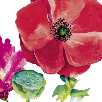 Servietten 33x33 cm - SUMMER POPPY