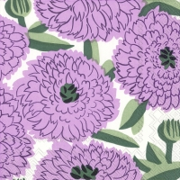 Servietten 33x33 cm - PRIMAVERA lilac